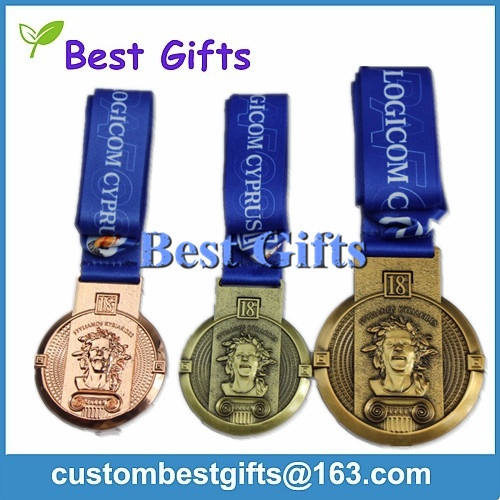 Antique finish medal for sports