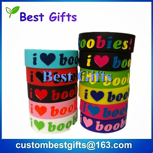 cheap price debossed or embossed silicone bracelts, silicone wristband