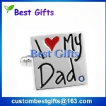 Promotional gifts I love my dad cufflinks