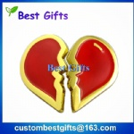 High quality heart shaped apel pin for lovers