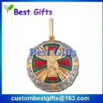 Make custom medal, football medal with ribbon