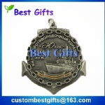 Promotional gifts antique silver medal with custom logo