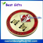 Free sample embossed engraved company logo silver coin