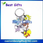 custom made keychain with many small designs