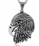 Vintage stainless steel eagle head pendant