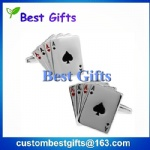 Promotional gifts custom metal cufflinks,poker cufflinks