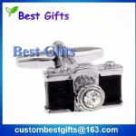 Custom 3d camera shaped cufflinks